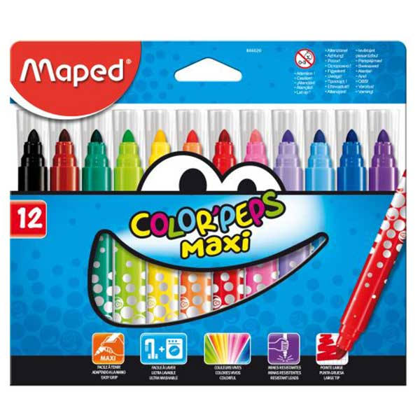 029fc5790b5 MAPED ΜΑΡΚΑΔΟΡΟΙ COLOR'PEPS MAXI 12 ΧΡΩΜΑΤΑ (846020) – playbook.gr